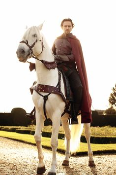 This is Tom Hiddleston as Henry V, which is my favorite of Shakespeare's history plays. And I could say that's why I'm pinning this here, but it's really because he strikes a very handsome figure on this horse and in head to toe leather. I think I need to change the name of this board.