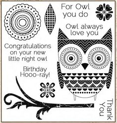 ⌘ ☀ Ð Å ℝ Č ї ℰ̨̃ § ☀ L L Č ☀ Darcie's Cling Mounted Rubber Stamps - Night Owl