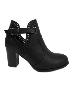 Another great find on #zulily! Black Cutout Arron Bootie by Bonnibel #zulilyfinds