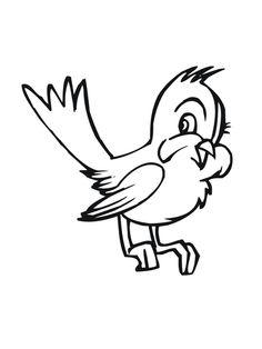 Cute Cartoon Bluebird Coloring page