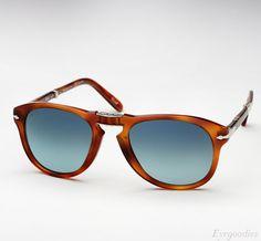 d038ebf7a Persol 714 SM sunglasses - Honey Tortoise w/ Blue gradient Polarized Saída  De Óculos De