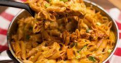 Méltán népszerű fogások közé tartozik a tészta. Egy csomaggal általában akad belőle otthon, jól variálható, és még gyorsan is elkészül! Tasty, Yummy Food, Penne, Gnocchi, Food Art, Pasta Recipes, Thai Red Curry, Macaroni And Cheese, Cabbage