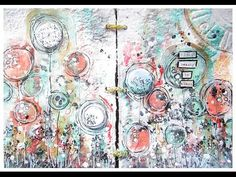 Mixed Media Art Journaling page with 7 Dots Studio and FW Pearlescent ac...