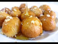 These traditional sweet Greek honey puffs are one of my favourite desserts. So I was excited to prepare this dairy free Lenten alternative, which is just as delicious as the traditional Greek honey puffs! Greek Donuts, Honey Puffs, Greek Sweets, Greek Dessert Recipes, Greek Easter, Puff Recipe, Recipe Ideas, Greek Cooking, Desserts