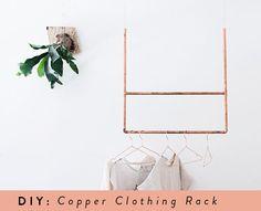 DIY copper clothing rack sfgirlbybay