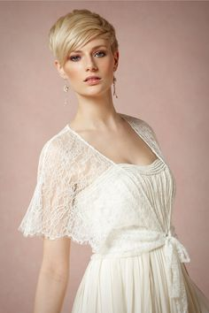 Lace Aura Wrap in Bride Bridal Cover Ups at BHLDN