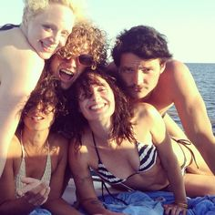 "Brienne of Tarth, Ser Loris, Cersei, and new character Oberyn Martell went yachting. | 16 Times The Cast Of ""Game Of Thrones"" Was Totally Out Of Character This Summer"