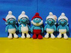 Crochet Amigurumi Smurf ( finished doll ). $90.00, via Etsy.
