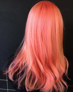 15 Gorgeous Pastel Hair Color Ideas to Inspire Your Next Hair Dye Job coralombrehair 233483561919268540 Peach Hair Colors, Hair Dye Colors, Ombre Hair Color, Hair Color Balayage, Pink Peach Hair, Lilac Hair, Gray Hair, Hair Color Caramel, Brown Ombre Hair