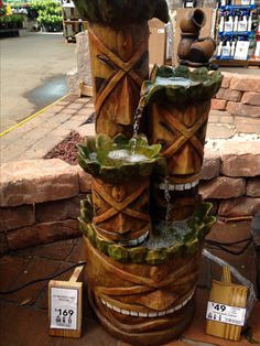 Tiki fountain!! :) Tropical Backyard, Backyard Paradise, Tropical Decor, Tiki Art, Tiki Tiki, Tiki Decor, Hawaiian Decor, Tiki Lounge, Tiki Torches