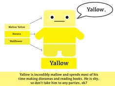 Yallow the Paint Chip Pal! Man Crafts, Paint Chips, Getting To Know, All The Colors, Books To Read, Reading, My Love, Plushies, World