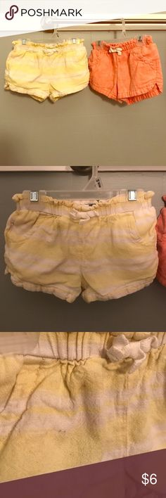 Old Navy toddler shorts. Size 3T. Two pairs of Old Navy toddler girls shorts. Both size 3T. Small spots on yellow pair. Old Navy Bottoms Shorts