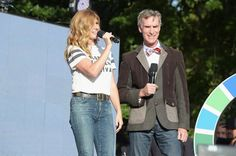 Pin for Later: De Nombreuses Stars Se Sont Réuni Pour une Bonne Cause Lors du Global Citizen Festival Connie Britton et Bill Nye