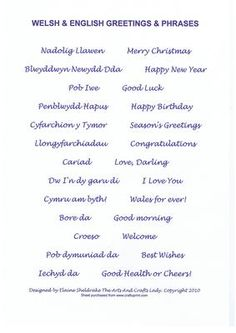 - A selection of greetings and phrases in both Welsh and English. Ideal for card making and scrapbooking. Welsh Sayings, Welsh Words, Welsh Phrases, Welsh Translation, Welsh Language, Language Study, Welsh Tattoo, Learn Welsh, Welsh English