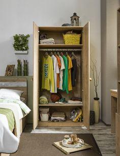 Cilek Mocha Kleiderschrank II mit LED - Beleuchtung - Kostenloser Versand innerhalb Deutschlands! - Der kleinere, der beiden Kleiderschränke der Mochakollektion von Cilek, ist ein perfekter Einstieg in... #kinder #jugendzimmer #kleiderschrank #cilek