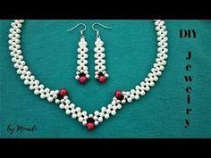 Diy Jewelry Making Tutorials Beautiful 24 New Ideas Tutorial Colar, Necklace Tutorial, Diy Necklace, Beaded Earrings, Beaded Bracelets, Simple Bracelets, Pendant Necklace, Pearl Pendant, Pearl Necklace