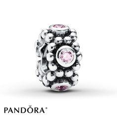 Pandora Spacer Pink CZ Sterling Silver