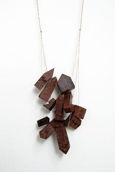 djurdjicakesic - a perfect geo-modern twist on wood scraps. i bet it's amazing worn. xoPiper
