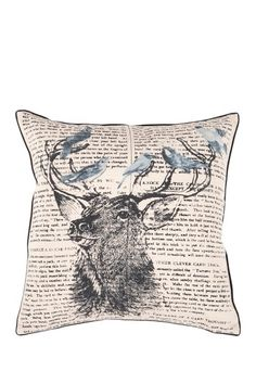 """Marvelous Stag 18"""" Pillow by Surya on @HauteLook"""