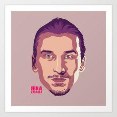 Zlatan Ibrahimovic Illustration Art Print