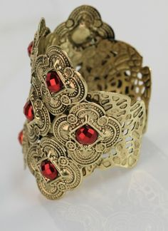 Queen of Ruby Cuff Bracelet. HOT!