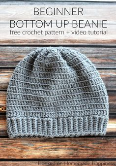 Beginner Bottom Up Beanie Crochet Pattern (CAL for a Cause) | Hooked on Homemade Happiness