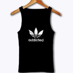 Marijuana Addicted Parody Tank Top