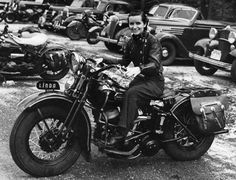 Linda Dugeau was a pioneering motorcyclist who founded the Motor Maids, the oldest motorcycling organization for women in North America, in 1940 - with 51 charter members. She worked as a motorcycle courier and had a reputation as one of the best female off-road riders in 1950s.