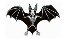 Bat Skeleton Cross Stitch Pattern by jennrbeeStitches on Etsy