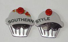 2 Cupcake Magnets Arizona 'Southern Style' by SodaCanBuddies