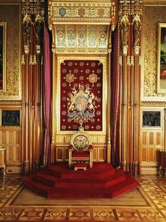 Throne in Queen's Robing Room, Houses of Parliament, Westminster, London, England-Adam Woolfitt-Photographic Print Palais De Buckingham, Royal Throne, Palace Interior, Queen Room, Throne Room, Royal Residence, Houses Of Parliament, Windsor Castle, Royal Palace