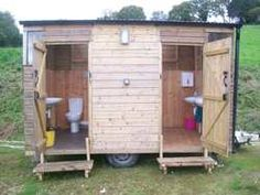 Wooden toilet block