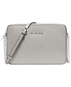 "MICHAEL Michael Kors Specchio Jet Set Travel Large E/W Crossbody - Michael Kors Handbags - Handbags & Accessories - Macy's $158.00. •9-1/2"" W x 5-1/2"" H x 2-1/2"" D."