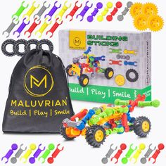 Stem Kids Building Toys for Kids   Educational Kids Toys   Creative Toddler Toys   Interlocking Engineering Toys for Boys and Girls Ages