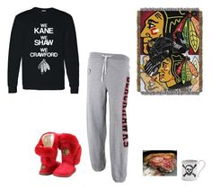 """""""Hawks Game and Deep Dish Pizza"""" by lghockey ❤ liked on Polyvore featuring Cuce, Reebok, Kane and The Northwest Company"""
