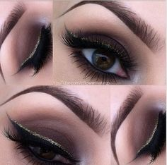Smokey Eyesshadow and sparkly Liner