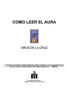 """Cover of """"COMO LEER EL AURA"""""""