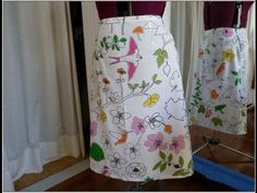 How to Sew an A-line skirt,