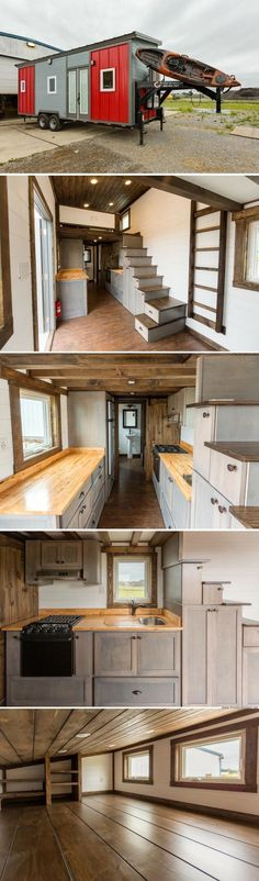 The Outlander from Tiny House Chattanooga // Tiny House Plans, Tiny House Plans, Small Bathroom Ideas, Small Living Room Ideas, DIY Room Decor, Space Saving Furniture, Under Bed Storage, Inspirational Tiny House Tree Houses, Bed Risers Ideas, and even Shabby Chic Furniture Ideas #tinyhouses #tinyhousemovement #tinyhouseforus #tinyhouseplans #tinyhouseforus #tinyhome