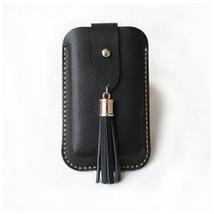 Contracted style snap fastener tassel leather phone case,According to the different phone models to make custom order.4/4s/5/5s