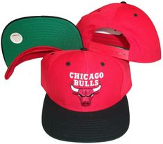 a24df2ef79c291 Amazon.com : Chicago Bulls Red/Black Two Tone Snapback Adjustable Plastic  Snap Back Hat / Cap : Sports Fan Baseball Caps : Sports & Outdoors