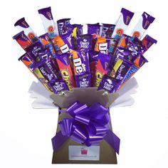 Cadbury Chocolate Bars, Chocolate Lovers, Bouquet Box, Candy Bouquet, Candy S, Chocolate Bouquet, How To Make Chocolate, Some Ideas, Small Gifts