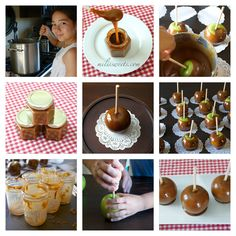 old fashioned caramel recipe for caramel apples & jars, canning and creating, via www.milissweets.com