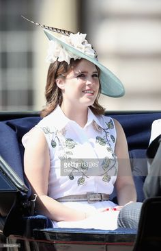 Princess Eugenie of York arrives for the annual Trooping The Colour parade on June 17, 2017 in London, England.  (Photo by Chris Jackson/Getty Images)