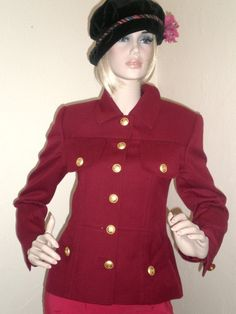 Vintage Suit Jacket Couture 50s Fitted Crest Gold by BagsnBling, $24.00