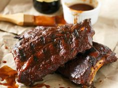 Party of Two: Beer-BQ Ribs for Your Memorial Day Cookout — Food Network Barbecue Recipes, Pork Recipes, Cooking Recipes, Batch Cooking, Cooking For Two, Meals For Two, Good Food, Yummy Food, Food Trends