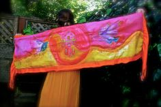 Silk Art Shawl the Colors of a magnificent by MindfulPresents, $250.00