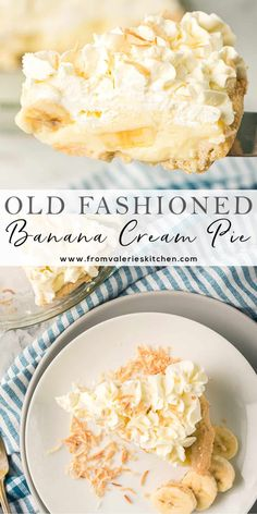 Simple ingredients and a special method make this Old Fashioned Banana Cream Pie easy to make at home. It's a creamy, delicious, nostalgic dessert choice.