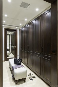 Villa Interior In Ahmedabad Is Reminiscent Of The Traditional Havelis | Design Logic - The Architects Diary Leather Wall Panels, Double Glass Doors, Wardrobe Design, Beveled Mirror, Herringbone Pattern, Soft Furnishings, Cladding, Living Area, Royal Lineage