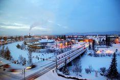 Fairbanks,Alaska. Looking north over the Chena River.